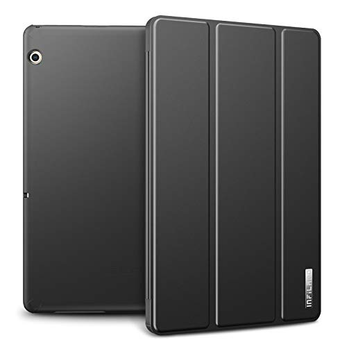 Infiland Huawei MediaPad T5 10 Hülle Case, Slim Ultraleicht PC Shell Schutzhülle Cover für Huawei MediaPad T5 10 10.1 Zoll 2018 Tablet PC,Space Grau