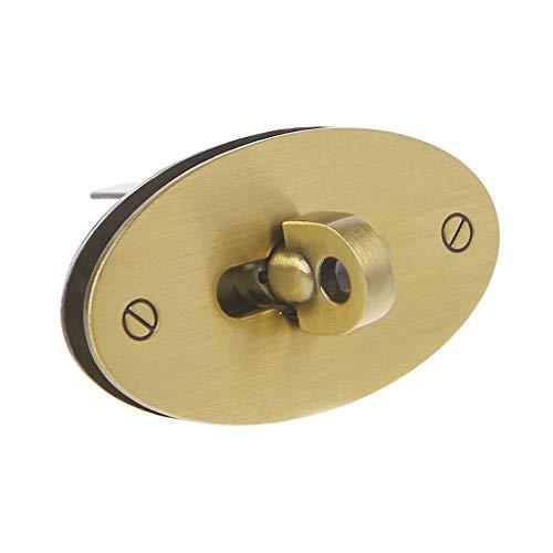 JENOR Ovaler Drehverschluss-Beutelverschluss für Handtaschen-Zubehör DIY Handwerk Bronze
