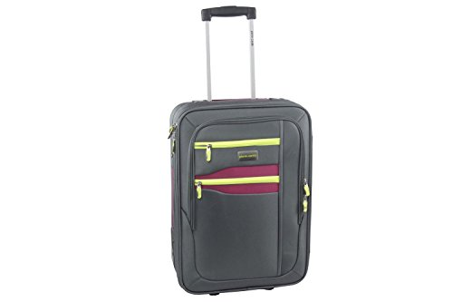 Maleta semirrígida PIERRE CARDIN gris mini equipaje de mano ryanair S272