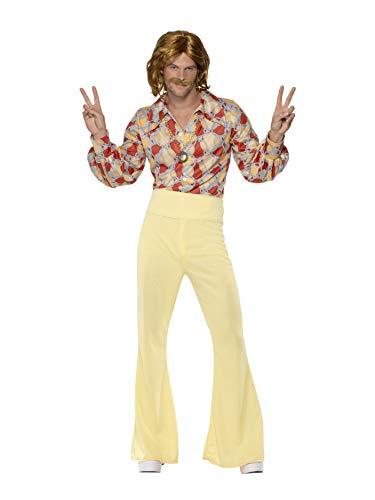 Smiffys, Herren 60er Groovy Guy Kostüm, Hemd und Hose, Hippie, Größe: M, 39436 (Guy Kostüme Ideen)