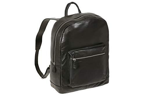URBAN CONNECTION Leder Rucksack Unisex Backpack in Volllederausstattung Echt-Rind-Leder, schwarz