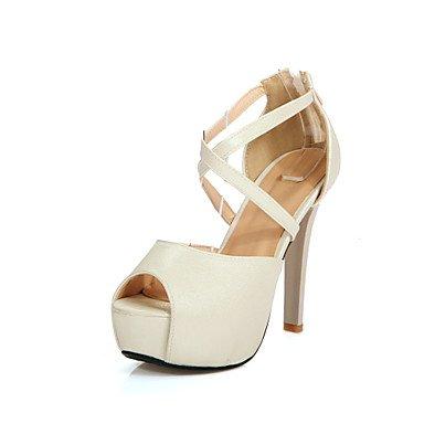LvYuan Da donna-Sandali-Matrimonio Formale Serata e festa-Comoda Cinturino alla caviglia Club Shoes-A stiletto-PU (Poliuretano)-Rosa Argento Pink