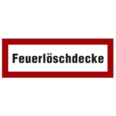 """"""" Feuerlöschdecke"""" Brandschutzzeichen Hinweiszeichen Folie selbstklebend"""