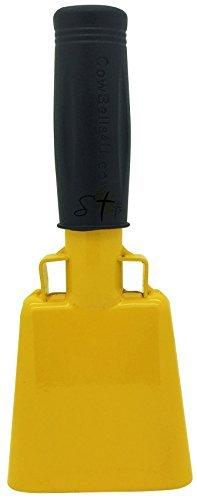 verschiedenen Größen und Team Farben Cowbell mit Stick Griff Bell für Jubel bei Sporting & Hochzeit Veranstaltungen-Kuh Bell von Stewart Trading TM Golden Yellow 6.1