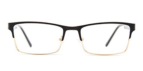TIJN Rectangle Semi-rimless Business Eyeglasses Eyewear with Clear Lens