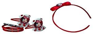 CORIEX d96410Pelo Set consiste en Pelo Gummies, Maduro y Clips en Disney Minnie Desing