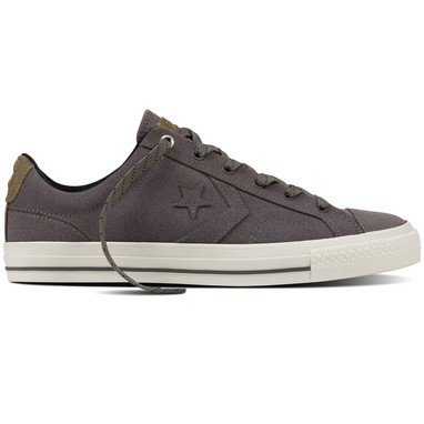 Converse Star Player Premium Leather Ox Homme Baskets Mode Gris