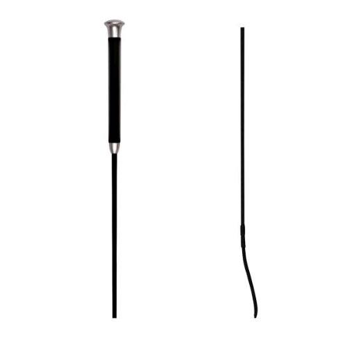 WALDHAUSEN Dressurgerte mit Gelgriff, Länge 110 cm, schwarz