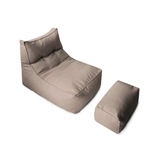 MUBBS Sitzsack Mit Hocker Rechteckigen Faulen Sofa Kinder Hohe Rückenlehne Arbeitszimmer Kühlen Geeignet Für Spielzeug Lagerung Licht Sofa oO (Color : Light Coffee) -