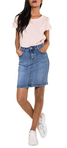 super popular e3545 35af9 Nina Carter Gonna di Jeans Donna Minigonna Casuale Gonna Corta a Matita  Denim