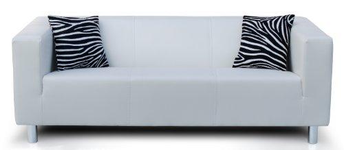 B-famous 3-Sitzer Sofa Cube 183 x 85 cm, PU, weiß