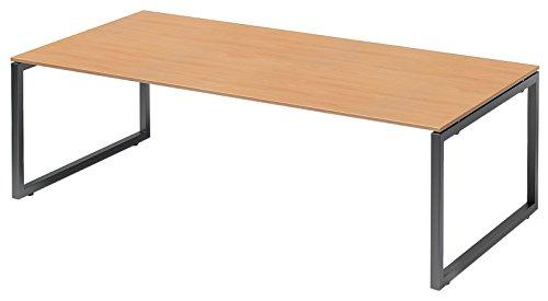 Bisley Cito Chefarbeitsplatz/Konferenztisch, 740 mm Höhenfixes O H 19 x B 2400 x T 1200 mm, Dekor Buche, Gestell Anthrazitgrau, Metall, Bc334 Dekor...