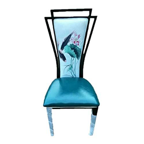 Yi feng sgabelli da bar hotel chair tea restaurant banquet hotel home tema classico tavolo creativo e combinazione di sedie nuova sedia da pranzo cinese/pittura a inchiostro durevole (colore : 1#)
