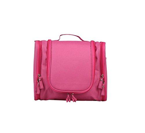 sweetauk cosmetici borsa da appendere borsa da toilette trousse da viaggio Toiletry Organizer per donna e uomo rosa Pink - Deluxe Pencil Case