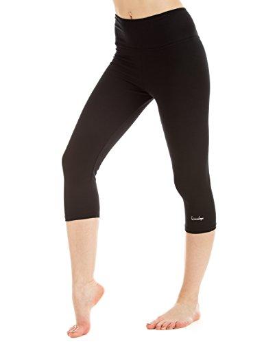 Winshape Damen Slim Tights Fitness Yoga Pilates Leggings, Schwarz, XL