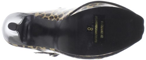 PLEASURE-02 - Pleaser USA Shoes Gold Pat (Cheetah Print)