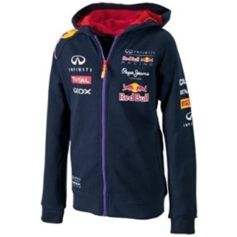 Red Bull Racing Infiniti - Sudadera con capucha para niños, color azul oscuro Talla:10