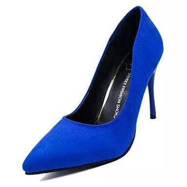 Da donna-Tacchi-Casual-Comoda-A stiletto-Cashmere-Nero Blu Rosso Blue