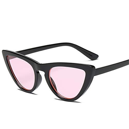 MOJINGYAN Sonnenbrillen,Retro Cat's Eye Männer Frauen Sonnenbrille Catseye Style Sun Slasses Damen Brillen Uv400 Brille Rosa