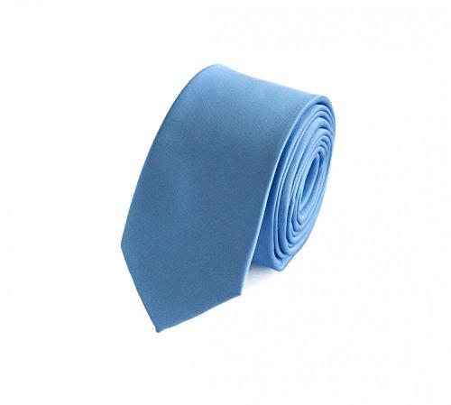 Moderne Fabio Farini Krawatte 6 cm in verschiedenen Farben, Hellblau