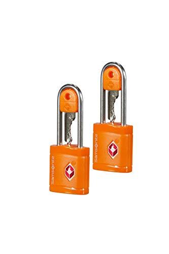 Samsonite Global Travel Accessories - TSA Schloss mit Schlüssel (2x), 6 cm, Orange -