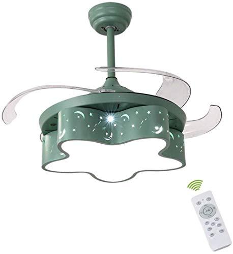 Hängeleuchten-Lampe, LED-Lichtquelle Lampe dimmen Multifunktions 48 Watt Geeignet für Kinder/Wohnzimmer/Schlafzimmer/Kronleuchter (blau),Fernbedienung -