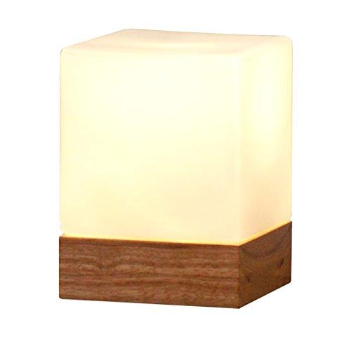 Home mall- Tischlampe Holz für Wohnzimmer Schlafzimmer Licht Zucker Modellierung Nachttischlampe 16 * 12 cm