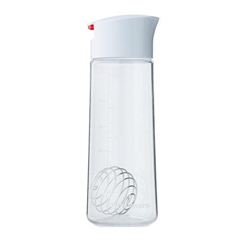 Whiskware Dressing Shaker , Soßenspender für Salatsoßen, Marinaden & Dressings , mit BlenderBall Schneebesen , Tritan, BPA frei , 590ml (Tupperware-shaker-flasche)