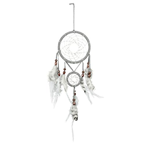 soccik–Atrapasueños Amuleto de la suerte, hecho a mano colgante Art Muelle joyas para 2149-N Decoración Artesanía Regalo Gris