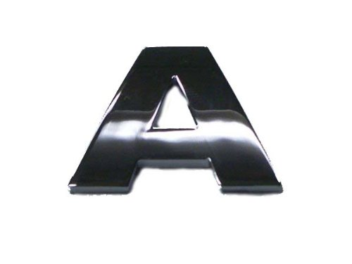 Auto-Aufkleber, Chrom-Optik, Buchstabe A, mit selbstklebender Rückseite