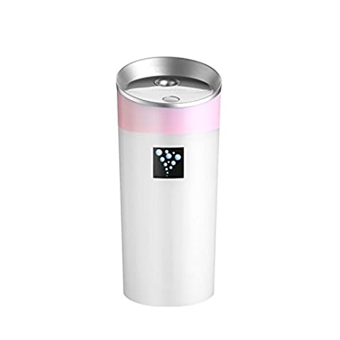 Hansee Car Aroma Humidifier, Mini Anion, 300ml Capacity, Two Hours Running Time, Automatical Power Off, USB Charger (Pink)