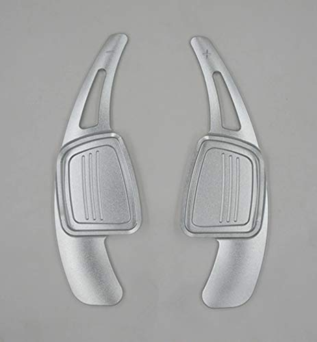 Preisvergleich Produktbild FFZ Parts Schaltwippen Verlängerung Shift Paddels Passend Für A3 A4 A5 A6 A7 Q3 Q5 Q7 S3 S4 S5 S6 S7 Silber