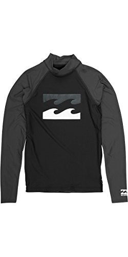 2017 Billabong Team Wave Long Sleeve Rash Vest BLACK C4MY04 Sizes- - Large (Seide Team-logos)