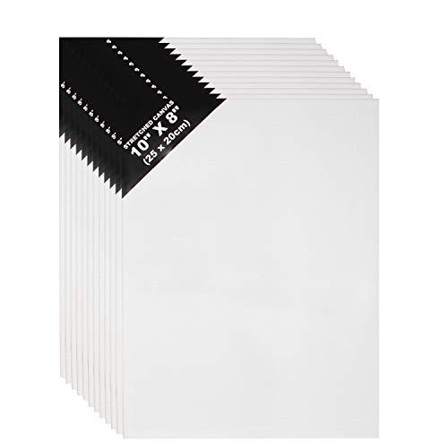 no se deforma Artina Set de 5 Lienzos Akademie con certificaci/ón FSC/® 15x15 cm 100/% algod/ón Lienzo y Bastidor Blancos 280g//m/²