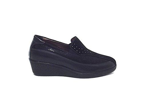 Susimoda scarpa donna, 8612, pelle e camoscio nero nr 38 A6102