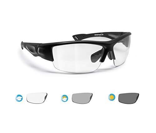BERTONI Sportbrille Selbsttönend Herren Damen für Radfahren Skilaufen Golf Laufen Angeln - mod. F1001A