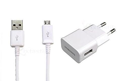 Original Samsung 2A Chargeur Secteur Eta-U90ewe + Cable Usb Ecbdu4awe D'origine - Blanc - Pour Tablette Galaxy Tab 3