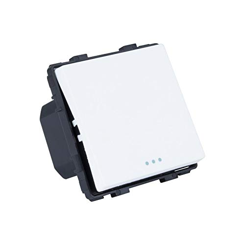 Interruptor Simple de Cruzamiento Blanco efectoLED