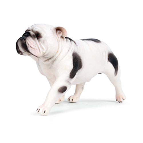 ZXPzZ Skulpturen Französische Bulldogge Handgemalte Statue Englische Bulldogge Statue Entzückende Bulldogge Dekorative Figur Skulptur (Size : 12x5x7.5cm) -