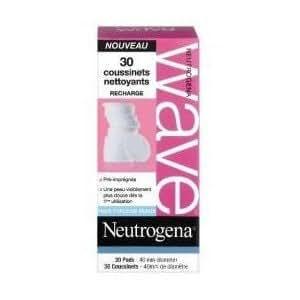 Neutrogena WAVE DEEP CLEAN RECHARGE DE 30 COUSSINETS NETTOYANTS
