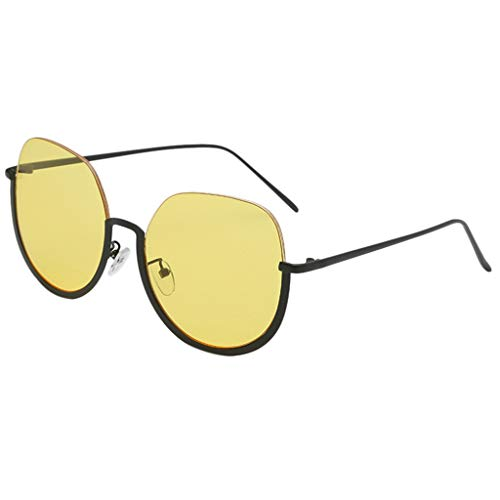SuperSU Unisex Sonnenbrillen Brillen Mode Punk Klassische spiegel Übergroße Sonnenbrille Sportsonnenbrille Mehrfarbig Brille Metall Brillenfassung Street Style Retro Sonnenbrillen
