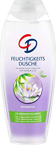 CD Feuchtigkeitsdusche Wasserlilie - Duschgel geeignet für empfindliche Haut im Vorratspack - Vegan - 6er Pack (6 x 250 ml) -