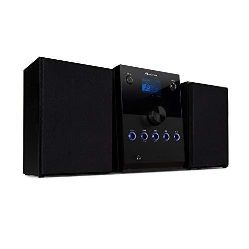 auna MC-30 DAB Micro-Anlage • Bluetooth-Stereoanlage • Lautsprecher-Set • CD-Player • DAB+ • UKW • Bluetooth • AUX • Display • Fernbedienung • schwarz
