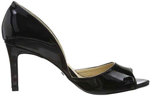Buffalo Damen C408a-4 P1236i PU Patent Pumps Schwarz (Black 01)