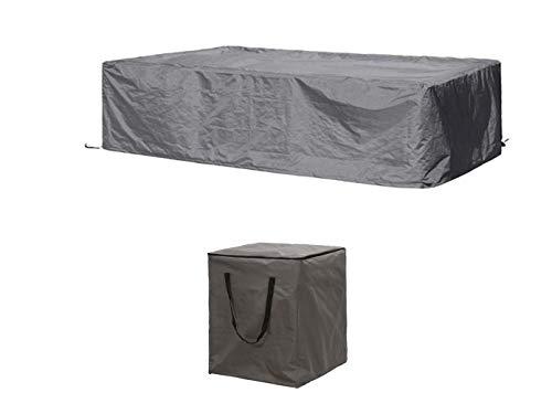 Schutzhüllen Set: Abdeckung 260x200cm für Garten Lounge Set + Hülle für 6-8 Kissen
