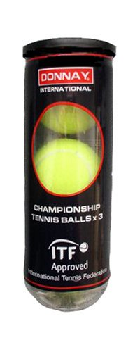 Donnay International 3 Championship Tennisbälle, 3-er Pack -