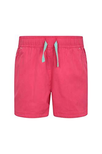 Mountain Warehouse Waterfall Shorts für Mädchen - Baumwollshorts, Kinder Kurze Hose, atmungsaktive Urlaubsshorts, Pflegeleichte Hose - Lässige Kleidung für die Reise leuchtendes Pink 98 (2-3 Jahre) - Warehouse-tools