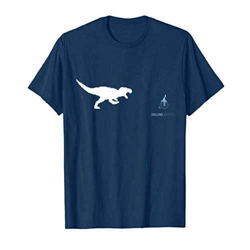Tyoby Sommer Herren T-Shirt Dinosaurier Drucken Freizeit Kurzärmliges Oberteil Mode Casual Herrenbekleidung(Marine,XL)