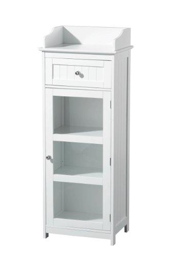 Premier Housewares – Armario de pie con puerta y cajón (119 x 45 x 33 cm), color blanco