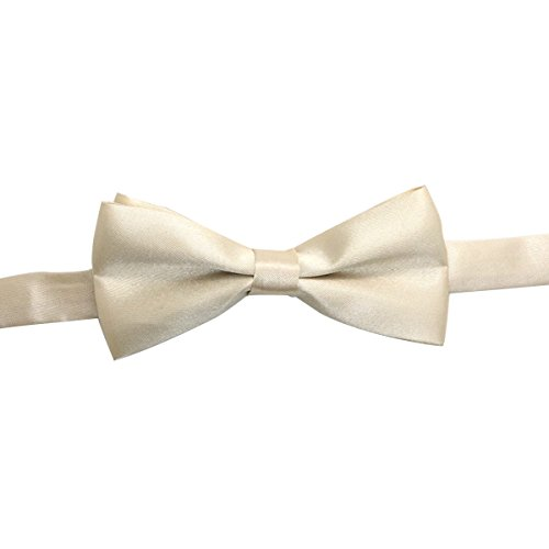 SAPEOO Klassische Kinder Normallack Krawatte, Baby Joker Kostüm Zubehör Multicolor-Studenten,LightChampagne-10*5cm